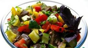 Салат из баклажанов с медовой запрвкой